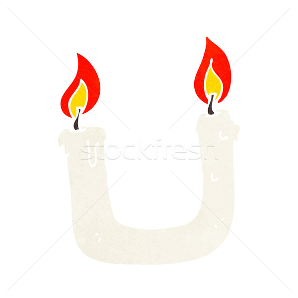 burning the candle at both ends cartoon Stock photo © lineartestpilot