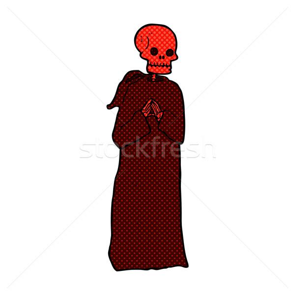Cómico Cartoon esqueleto túnica retro Foto stock © lineartestpilot