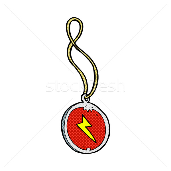 Stock photo: comic cartoon magic pendant necklace