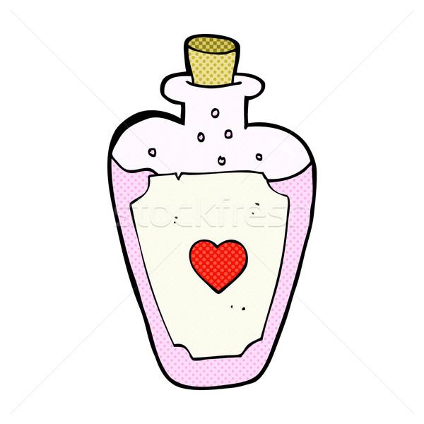 comic cartoon love potion Stock photo © lineartestpilot