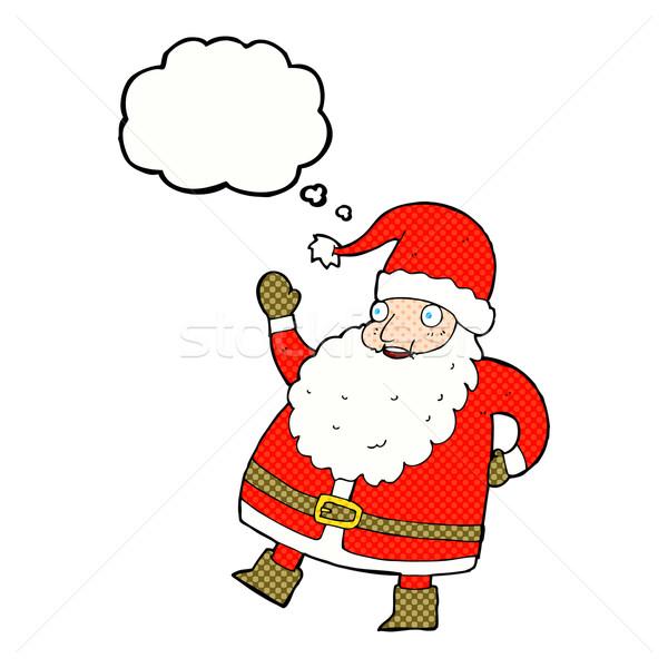 смешные Дед Мороз Cartoon мысли пузырь стороны Сток-фото © lineartestpilot