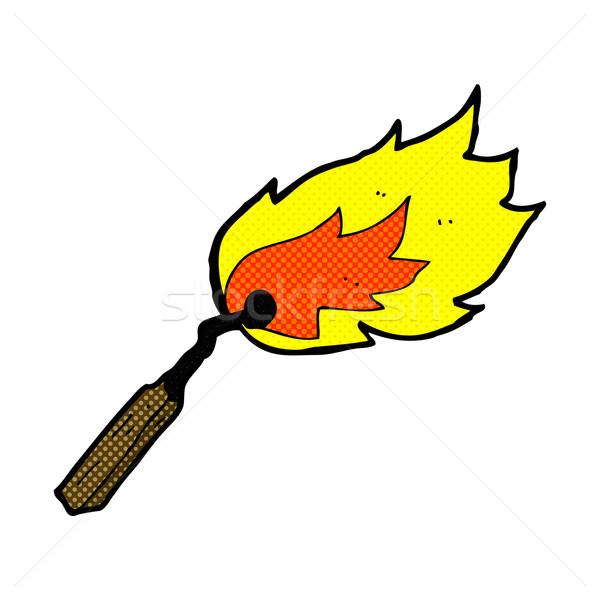 comic cartoon burning match Stock photo © lineartestpilot
