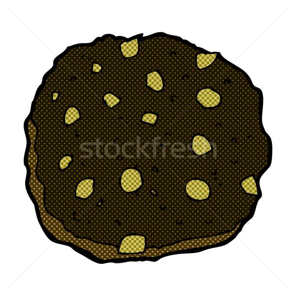 chocolate chip cookie comic cartoon Stock photo © lineartestpilot