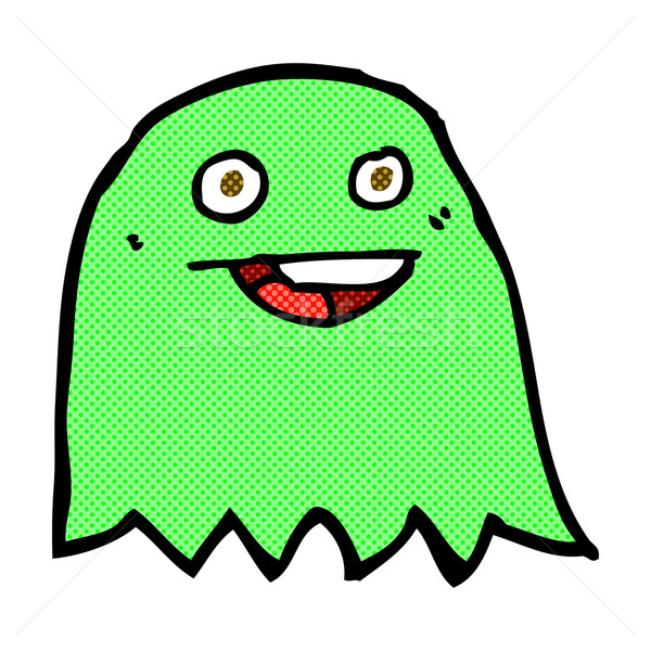 Cômico desenho animado fantasma retro estilo Foto stock © lineartestpilot