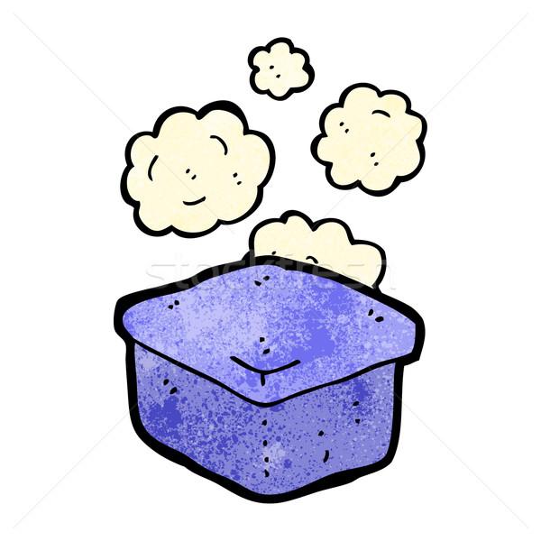 Rajz ételhordó doboz doboz retro rajz aranyos Stock fotó © lineartestpilot