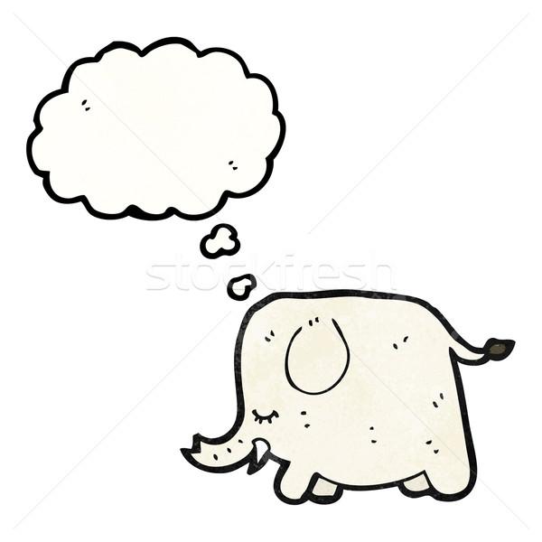 cute cartoon elephant Stock photo © lineartestpilot