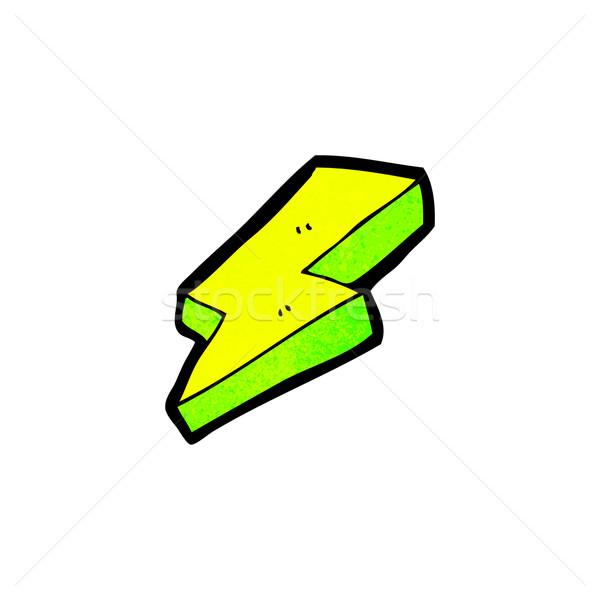 Villám szimbólum rajz retro rajz aranyos Stock fotó © lineartestpilot