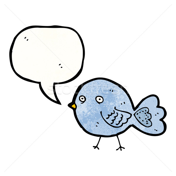 funny blue bird cartoon Stock photo © lineartestpilot