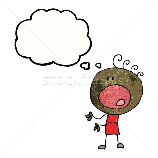 cartoon complaining doodle boy Stock photo © lineartestpilot