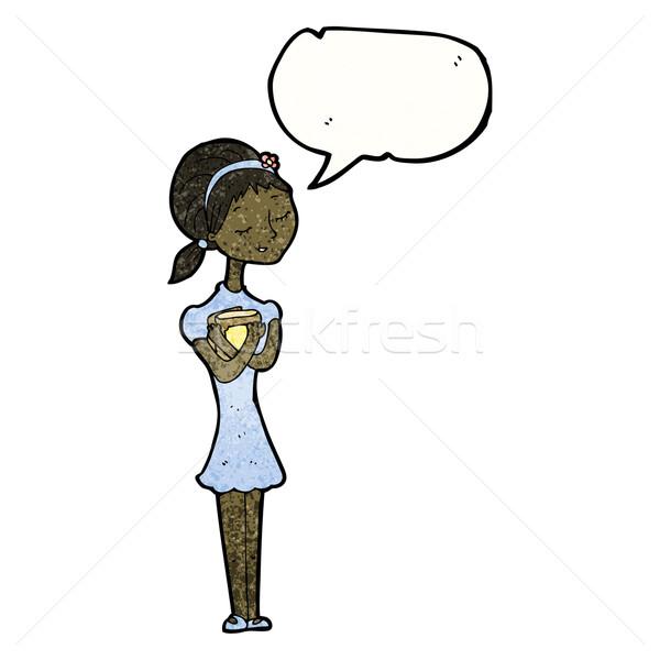 Cartoon тощий студент девушки женщину книгах Сток-фото © lineartestpilot