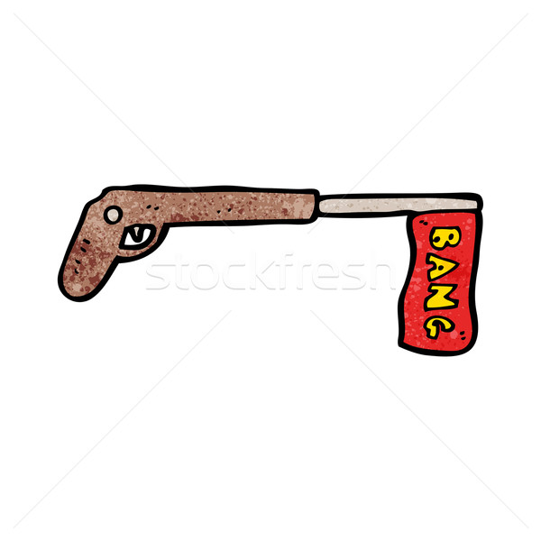 Broma arma Cartoon arte retro dibujo Foto stock © lineartestpilot