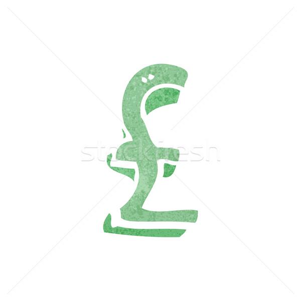 retro cartoon pound sign Stock photo © lineartestpilot