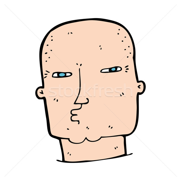 cartoon bald tough guy Stock photo © lineartestpilot