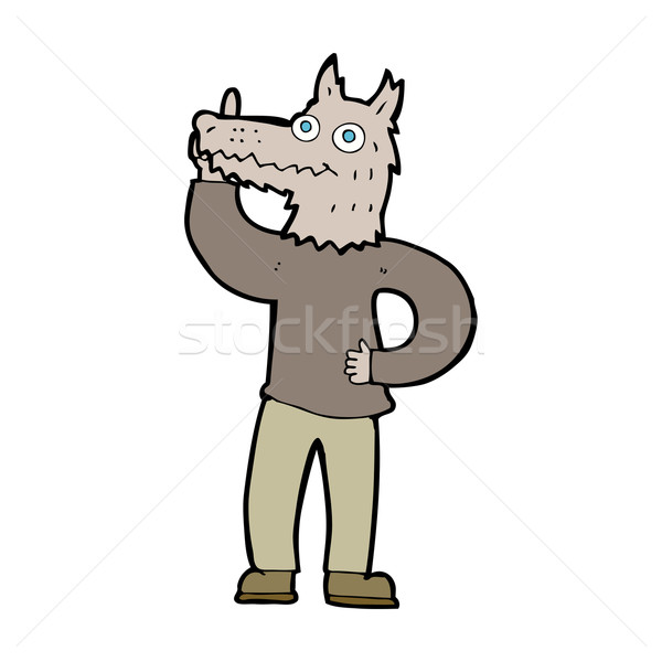 cartoon werewolf with idea Stock photo © lineartestpilot