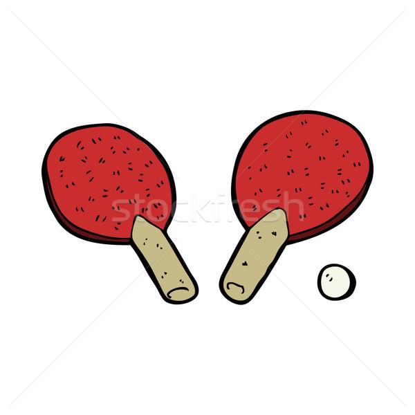 Cartoon настольный теннис стороны дизайна таблице теннис Сток-фото © lineartestpilot