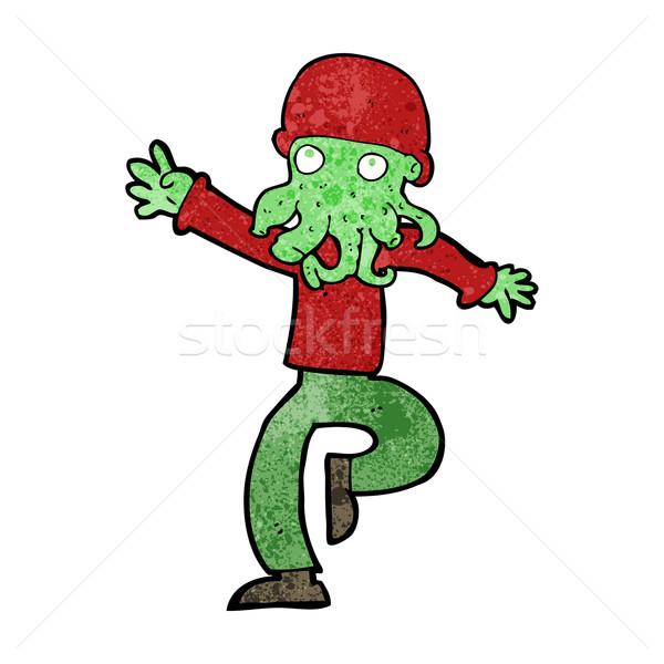 Desenho animado alienígena monstro homem projeto arte Foto stock © lineartestpilot