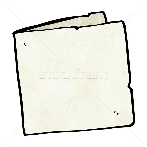 Cartoon carte vierge papier main design fou Photo stock © lineartestpilot