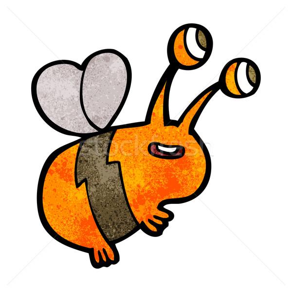 Stock photo: cartoon happy bee