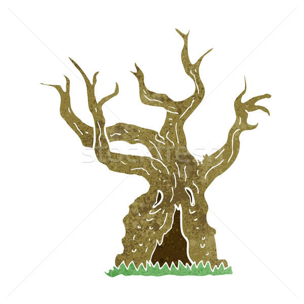 cartoon spooky old tree Stock photo © lineartestpilot