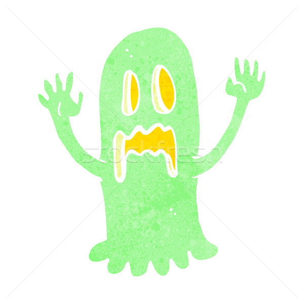 Cartoon fantasma diseno arte retro Foto stock © lineartestpilot