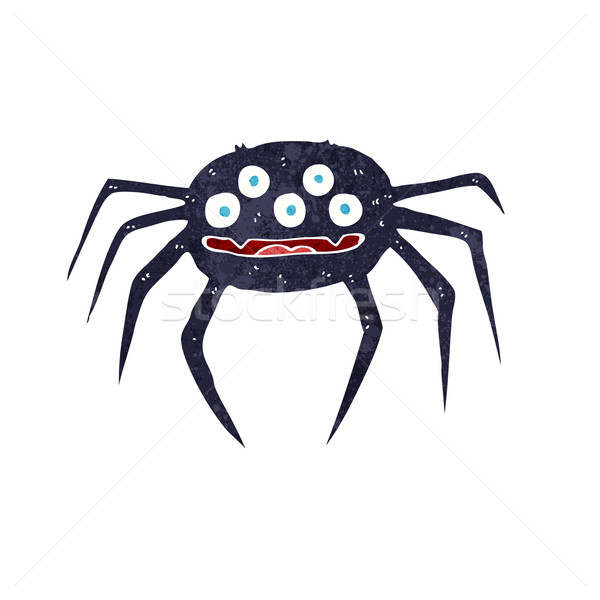 cartoon halloween spider Stock photo © lineartestpilot