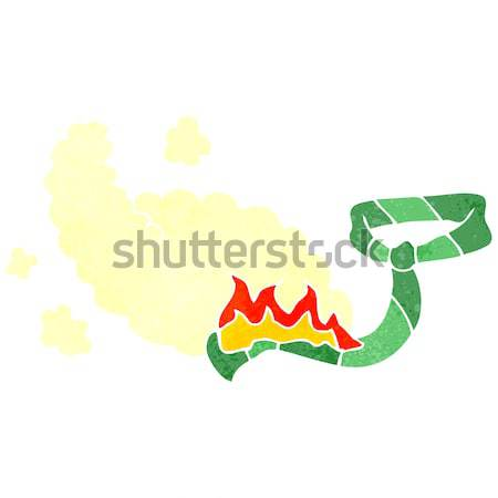 Cartoon toxique serpent main design fou Photo stock © lineartestpilot