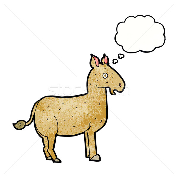 cartoon mule with thought bubble Stock photo © lineartestpilot