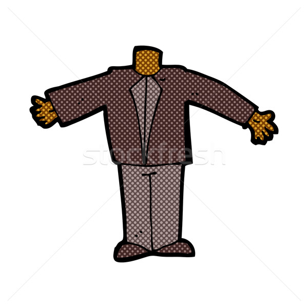 comic cartoon body in suit (mix and match comic cartoons or add  Stock photo © lineartestpilot