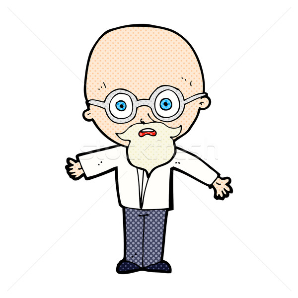comic cartoon genius scientist Stock photo © lineartestpilot