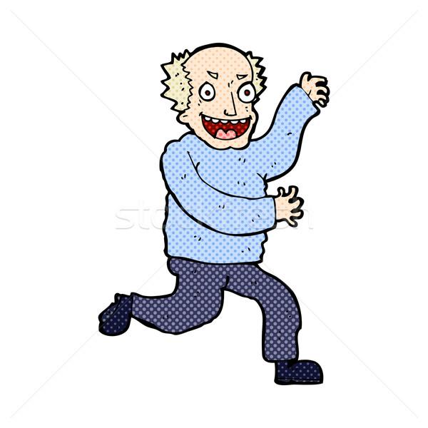 комического Cartoon зла старик ретро Сток-фото © lineartestpilot