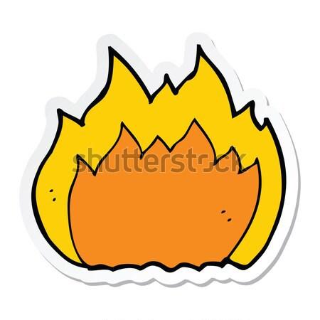 comic cartoon flaming axe Stock photo © lineartestpilot