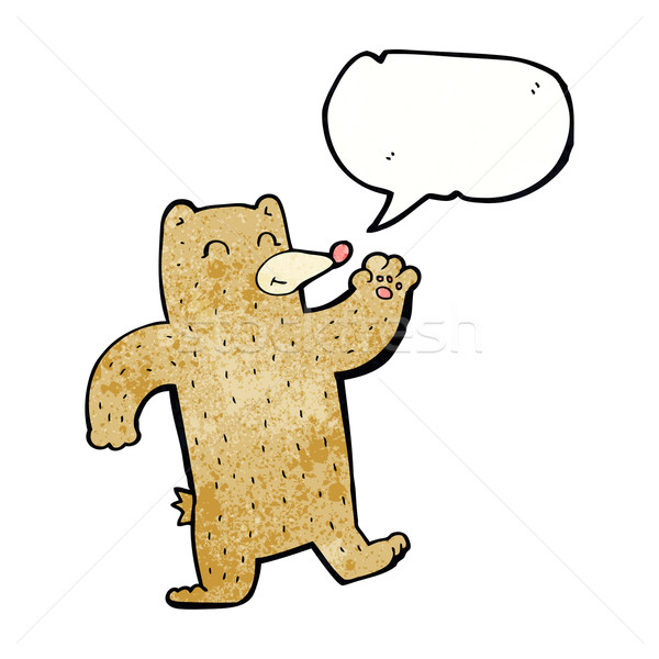 Cartoon orso fumetto mano design Foto d'archivio © lineartestpilot
