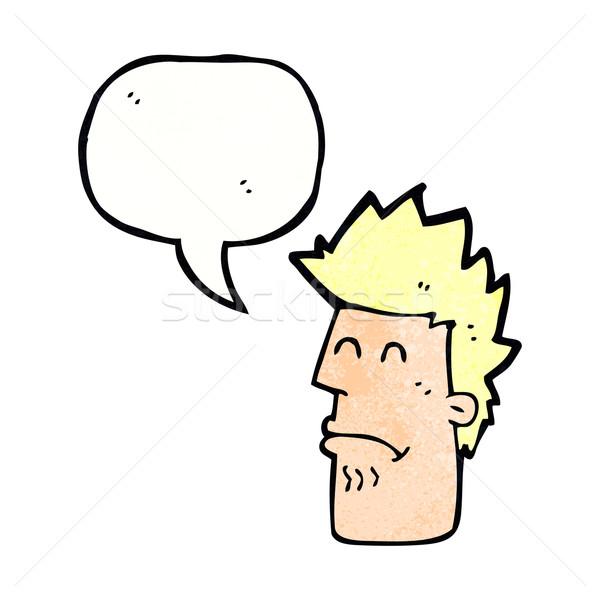 Cartoon человека чувство больным речи пузырь стороны Сток-фото © lineartestpilot