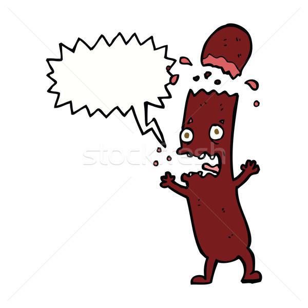 Cartoon worst gedachte bel voedsel hand ontwerp Stockfoto © lineartestpilot