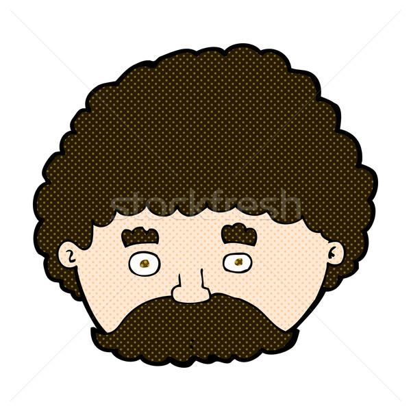 комического Cartoon человека усы ретро Сток-фото © lineartestpilot
