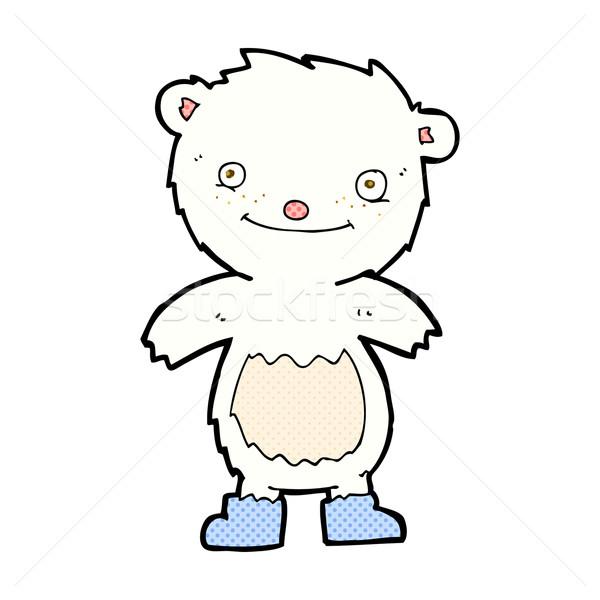 comic cartoon teddy polar bear wearing boots Stock photo © lineartestpilot