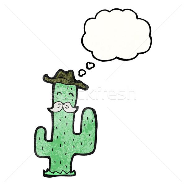 Cartoon cactus versie textuur hand gezicht Stockfoto © lineartestpilot