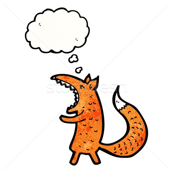 Stock photo: cartoon yawning fox