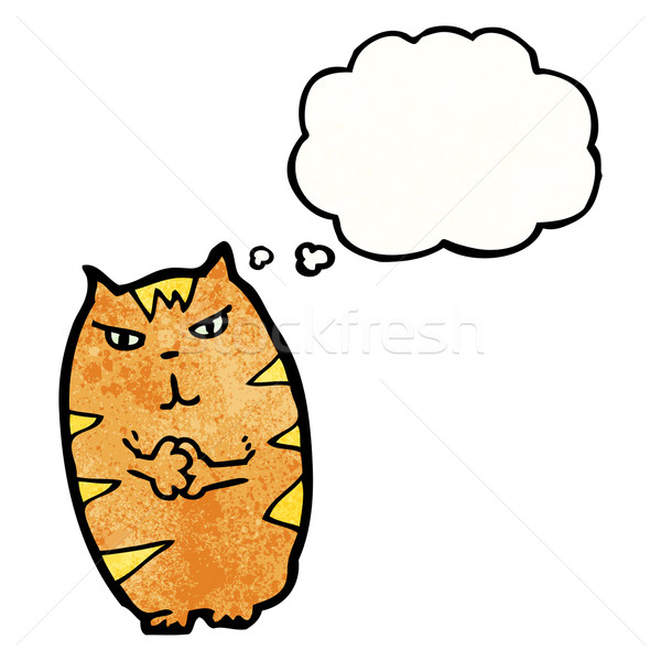 cartoon mean cat Stock photo © lineartestpilot