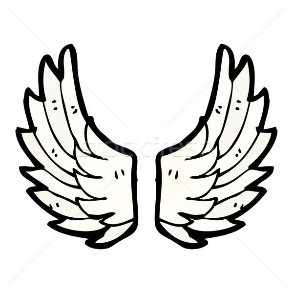 Cartoon ailes art ange signe rétro Photo stock © lineartestpilot