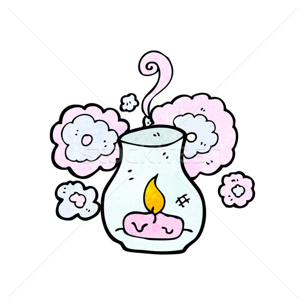 Cartoon фонарь стекла ретро рисунок Cute Сток-фото © lineartestpilot
