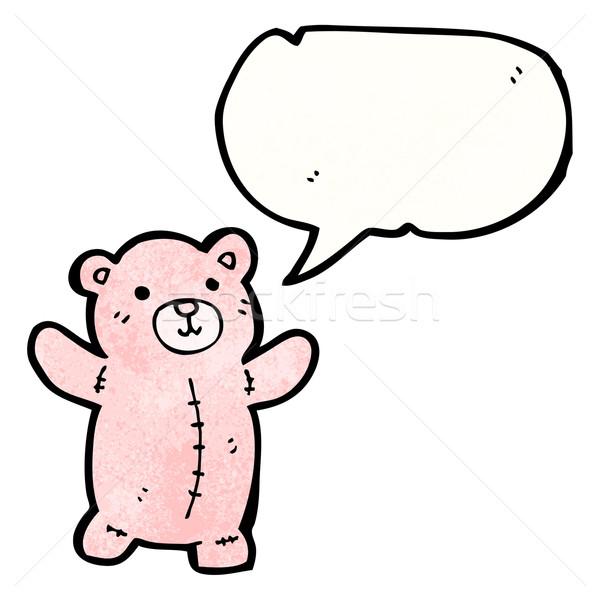 Сток-фото: Cartoon · розовый · мишка · речи · пузырь · ретро · рисунок