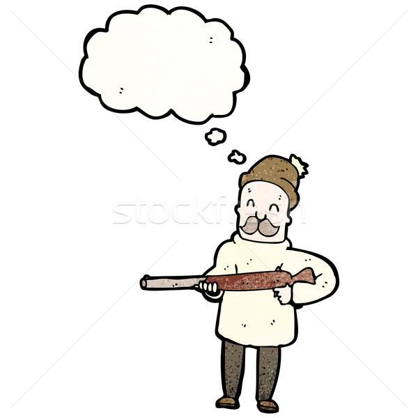 cartoon hunter with rifle Stock photo © lineartestpilot