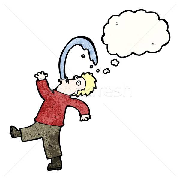 cartoon rude man spitting water Stock photo © lineartestpilot