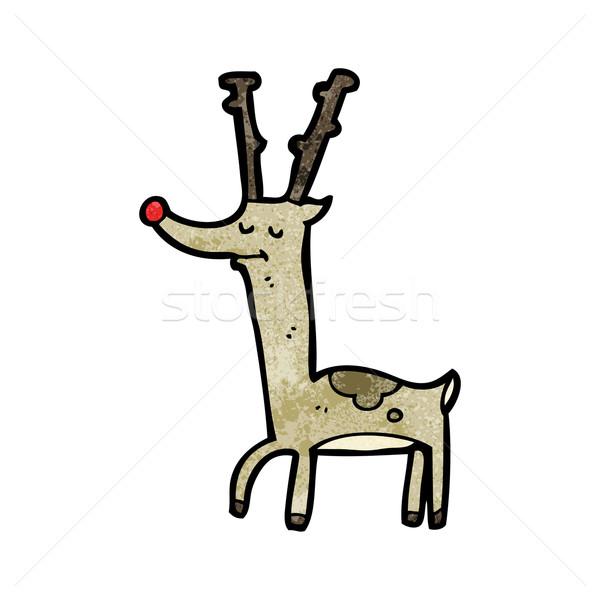 Orgoglioso renne cartoon texture arte disegno Foto d'archivio © lineartestpilot