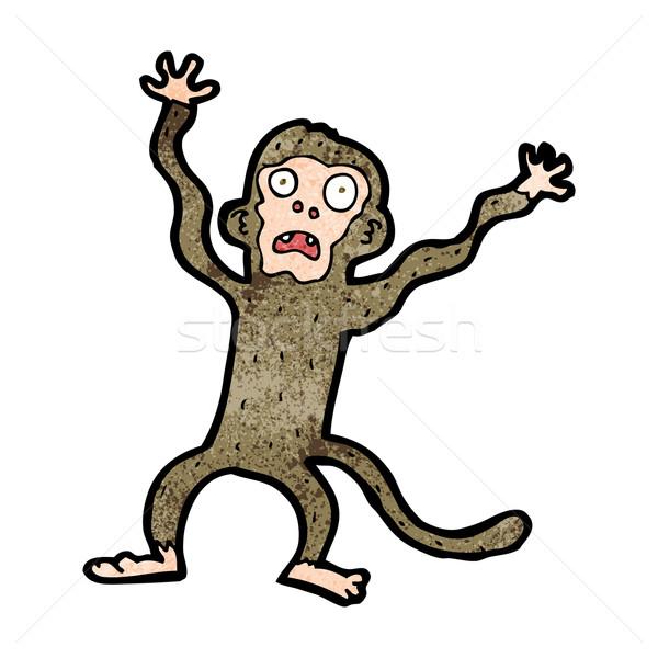 Cartoon bange aap hand ontwerp kunst Stockfoto © lineartestpilot