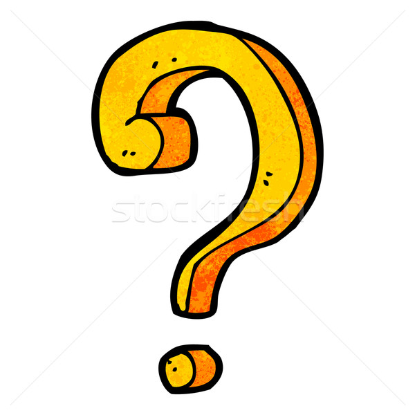 cartoon question mark Stock photo © lineartestpilot