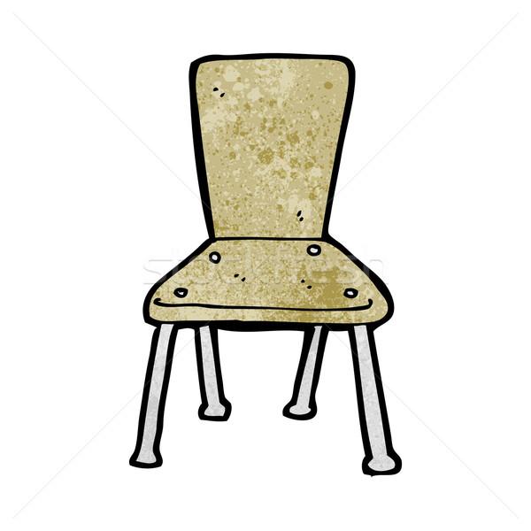 cartoon old school chair Stock photo © lineartestpilot