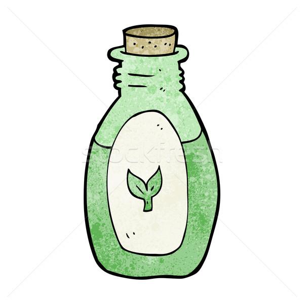 Rajz gyógynövény kéz terv üveg őrült Stock fotó © lineartestpilot
