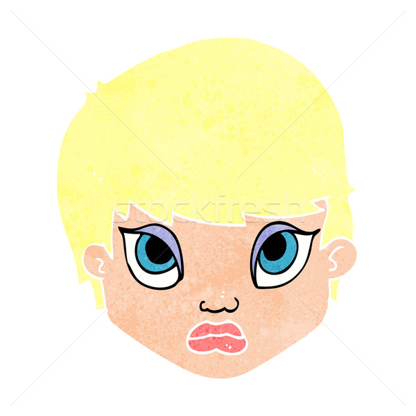 cartoon sulking woman Stock photo © lineartestpilot